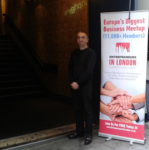 Adie Hardy standing outside Ruby Blue before the Entrepreneurs Networking Night image